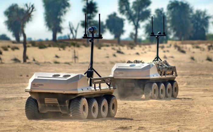 BƏƏ şirkəti Ukraynada keçirilən sərgidə öz avtonom döyüş robotlarını nümayiş etdirib -  FOTOLAR