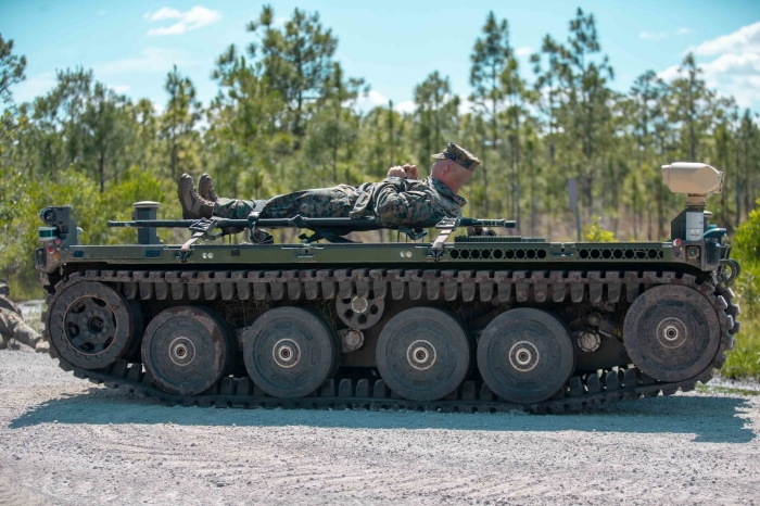 U.S. Marine Corps evaluates light robotic vehicle